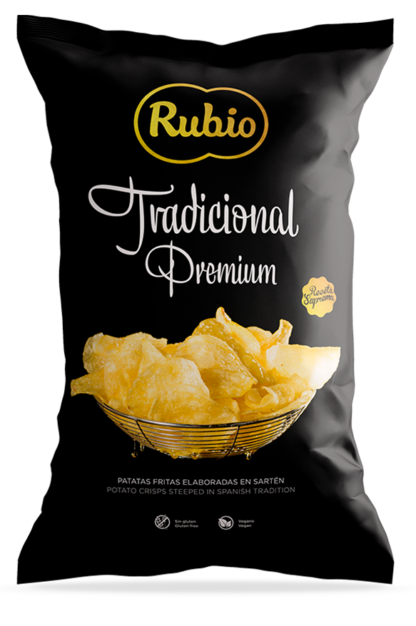 Potato crisps steeped in spanish tradition