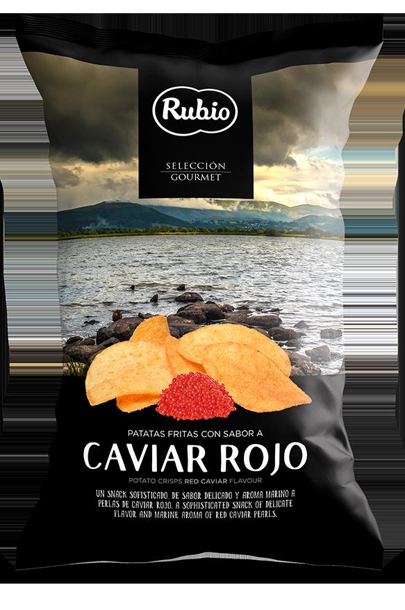 Patatas fritas con sabor a caviar rojo