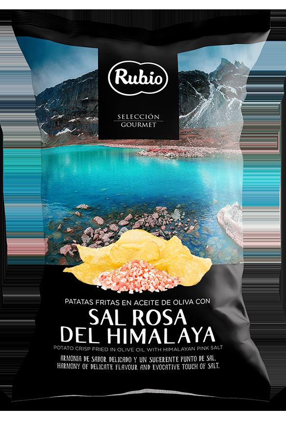Patatas fritas en aceite de oliva con sal rosa del himalaya