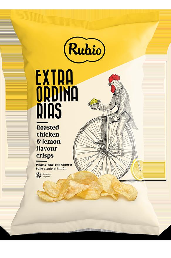 Patatas fritas con sabor a pollo asado al limón