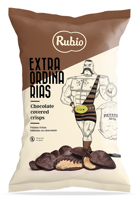 Patatas fritas bañadas al cacao