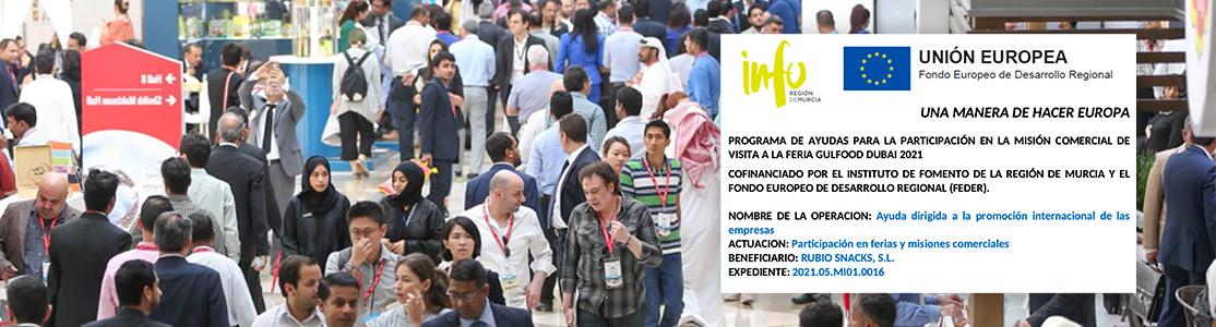 PROGRAMA DE AYUDAS PARA LA PARTICIPACIÓN EN LA MISIÓN COMERCIAL DE VISITA A LA FERIA GULFOOD DUBAI 2