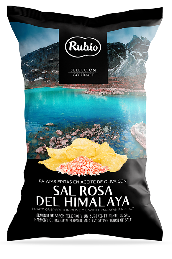 Patatas fritas en aceite de oliva con Sal rososa del Himalaya