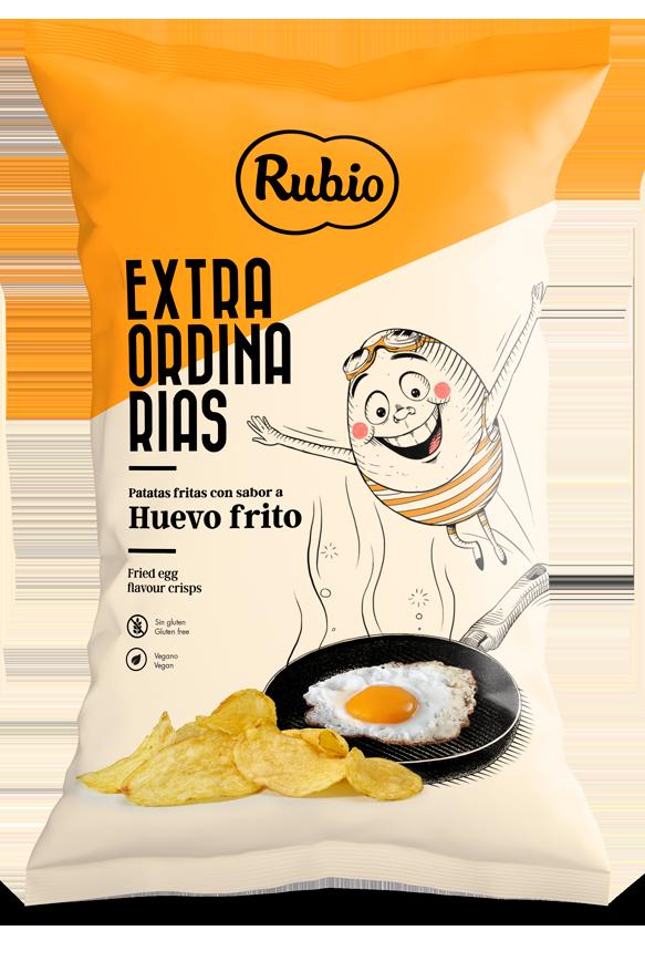 Fried egg flavour crisps