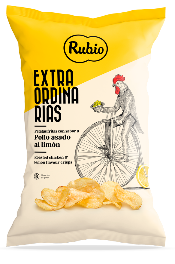 Roasted chicken and lemon flavour crisps