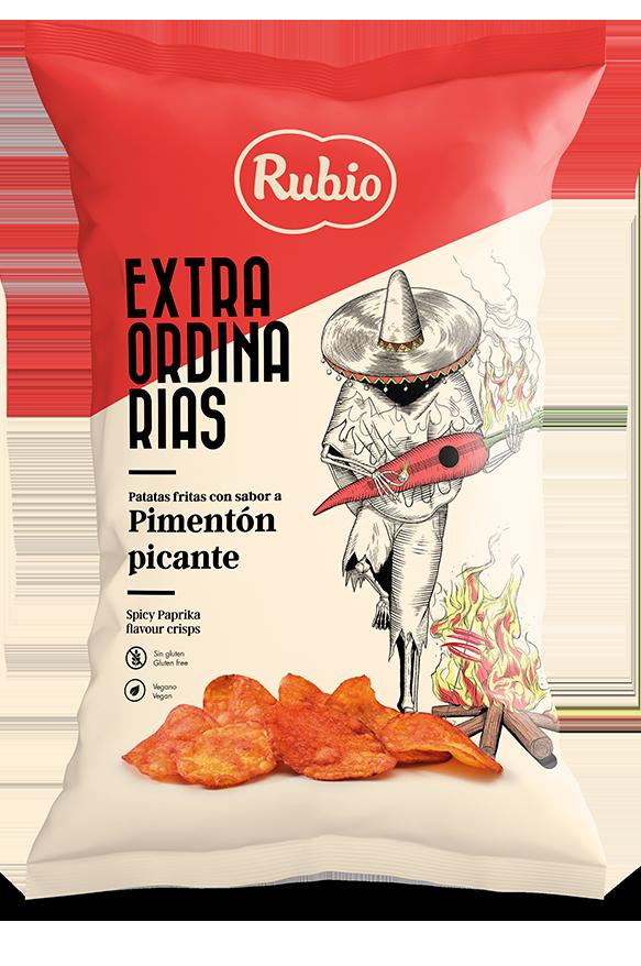 Spicy Paprika flavour crisps